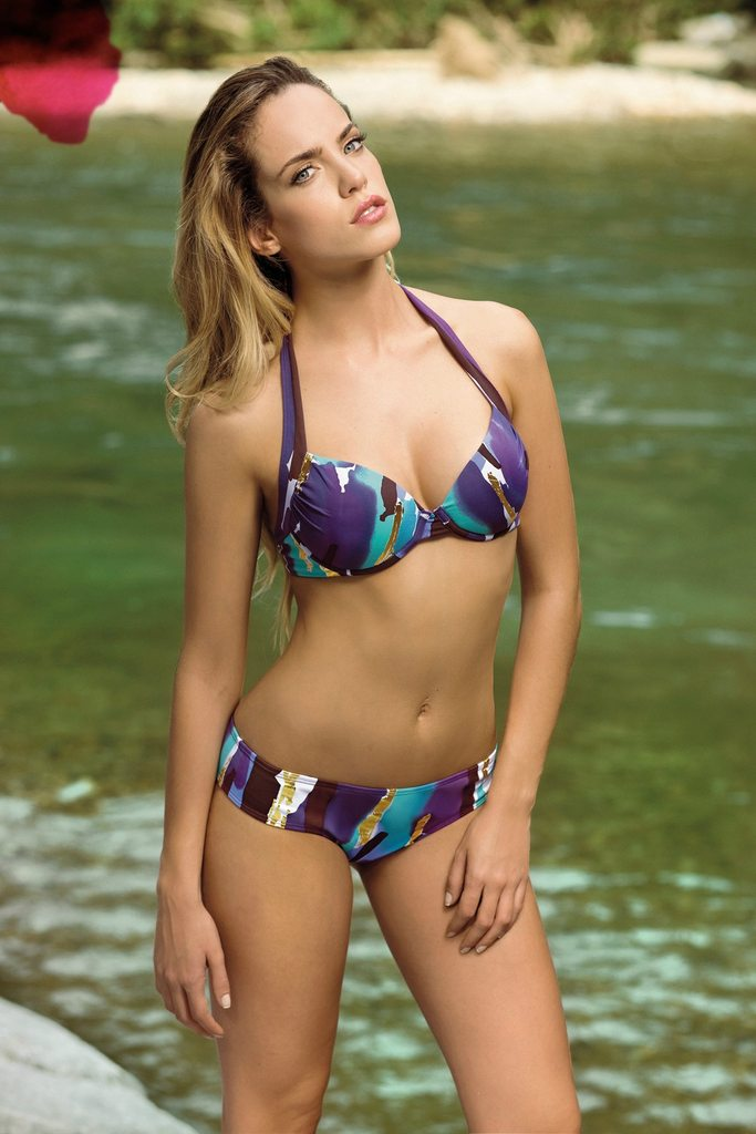 Gorgeous Photos Of Emilia Claudeville In Bikini For Saha Swimwear!