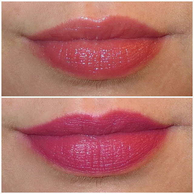a picture of Chelsea Dawn Lipsticks in Seduce and Dolce (lip swatch)