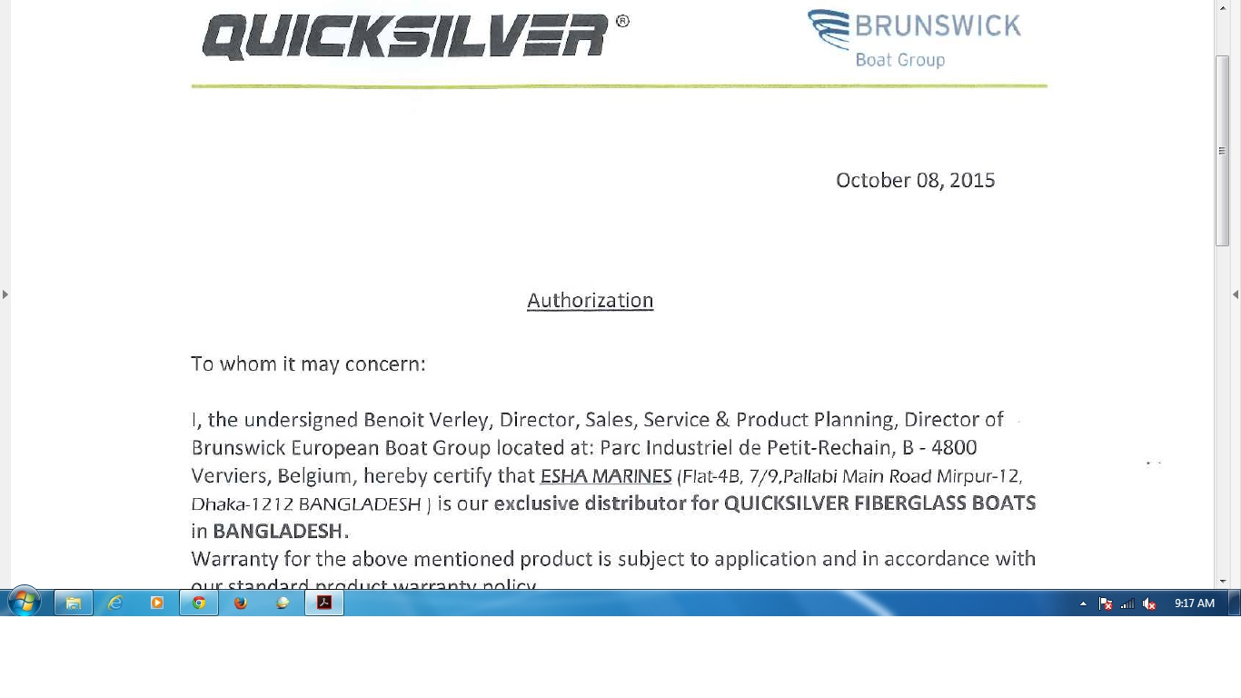 Finally Got The Distributorship Authorization Letter From