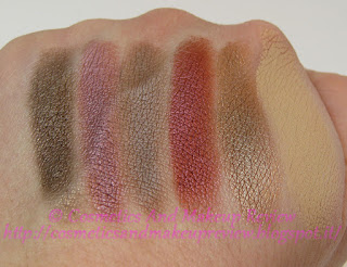 Nabla - Crème Shadow - swatches Caffeine, Pinkwood, Bakery, Supreme, Dandy, Underpainting