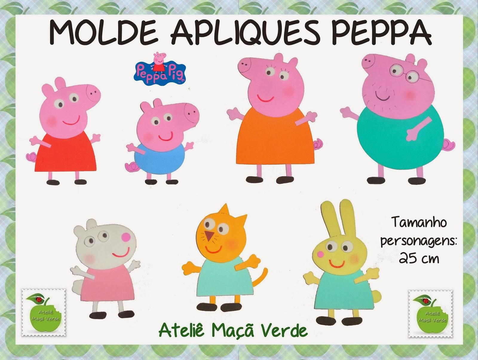 Moldes Para Recortar De Pepa Pig