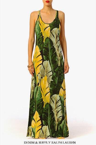 Robe longue Banana Denim and Supply by Ralph Lauren super exotique