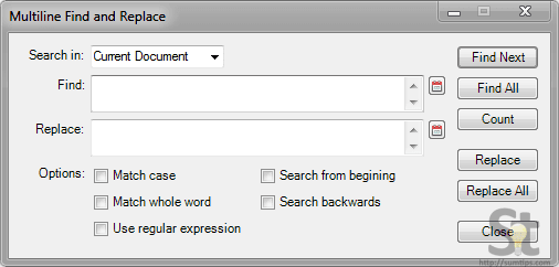 Find and Replace Multiple Lines in Notepad++