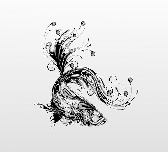 Desenhos em preto e branco de Si Scott - 04
