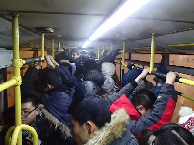 Harbin Buses are Packed