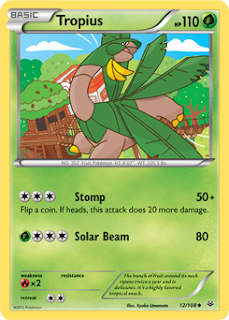 Tropius Roaring Skies Pokemon Card