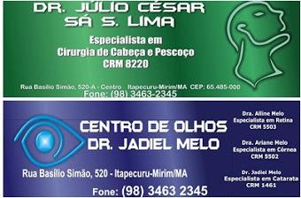 CLINICA DE OLHOS DR JADIEL MELO E DR JULIO CESAR