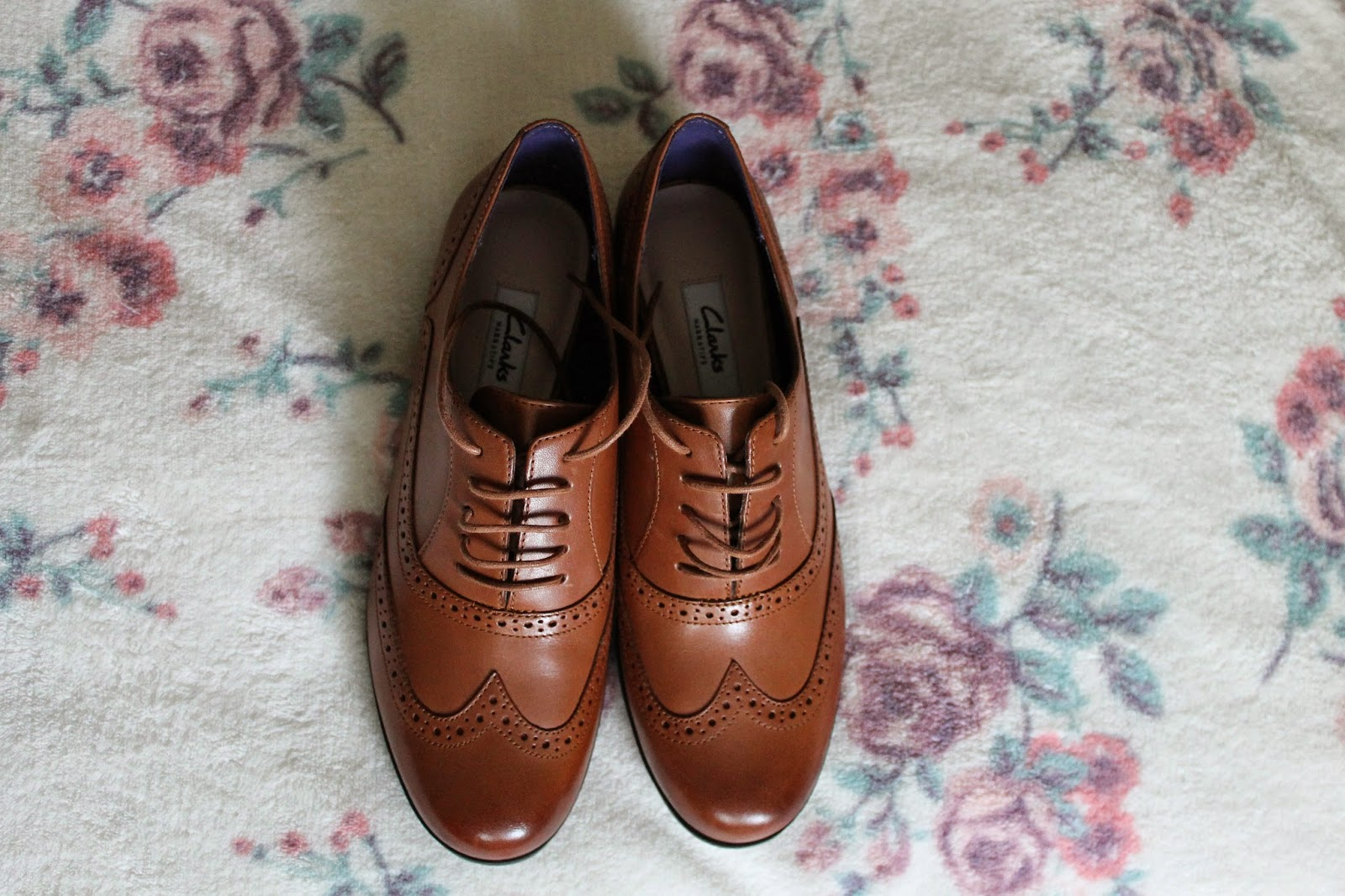 Clarks Brown Leather Brogues
