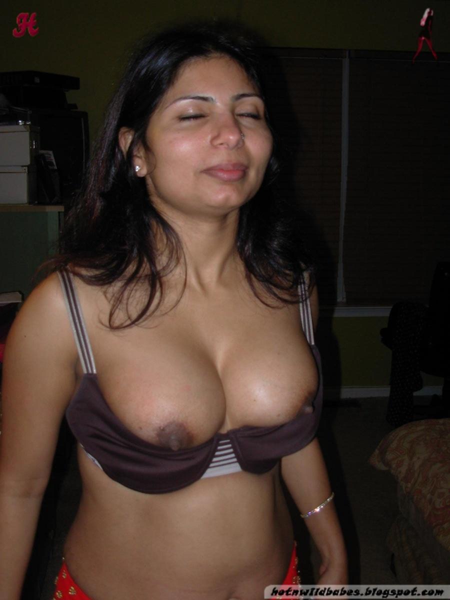 Woman Pulling Bra Off