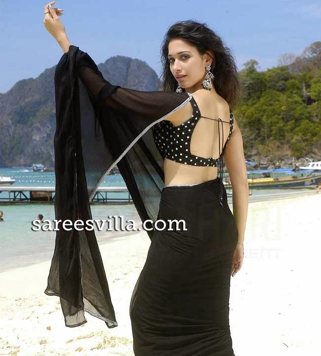 Tamanna In Backless Blouse