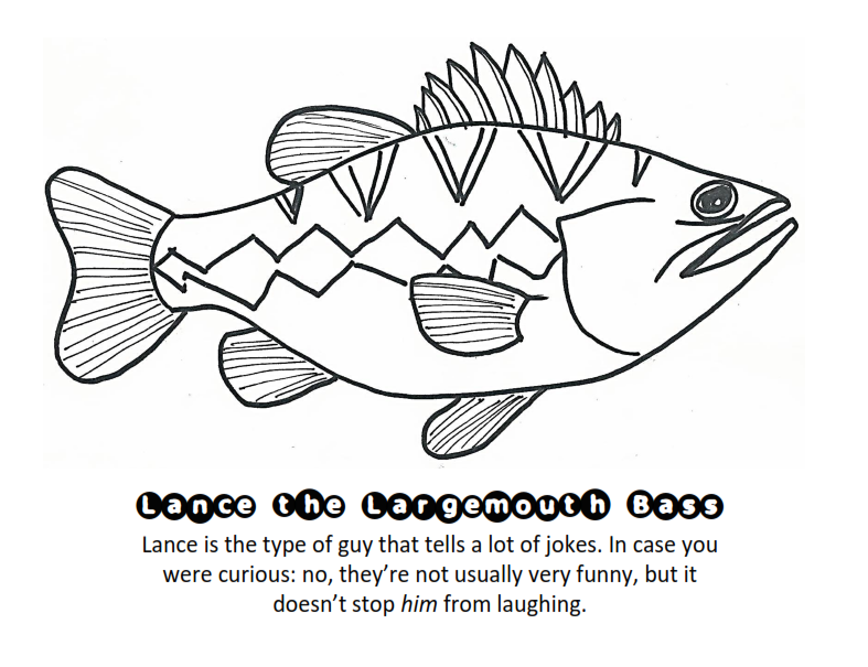 largemouth bass coloring pages - photo#14