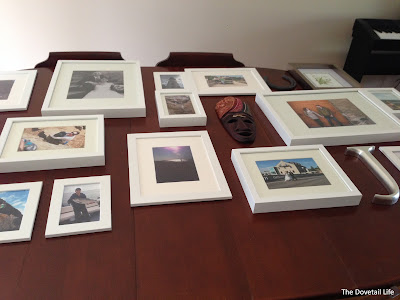 Laying out the gallery wall