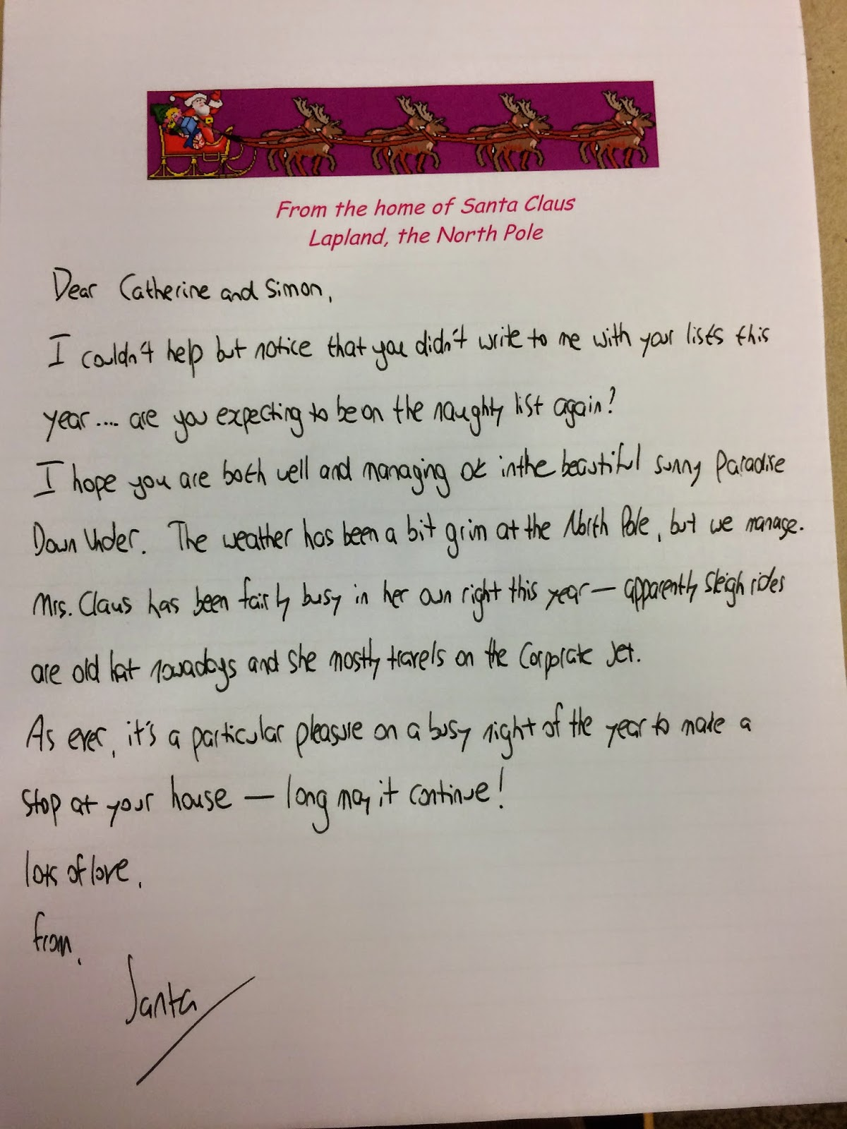 Swisslet naughty or nice mum and dad got a surprise letter from santa too spiritdancerdesigns Image collections