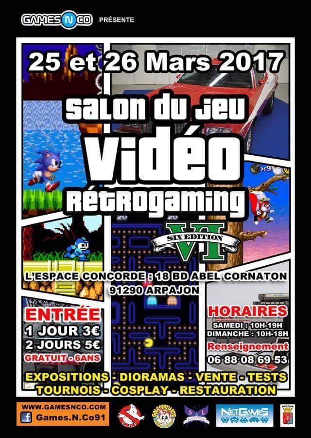 Salon RétroGaming Arpajon, 25-26 mars 2017