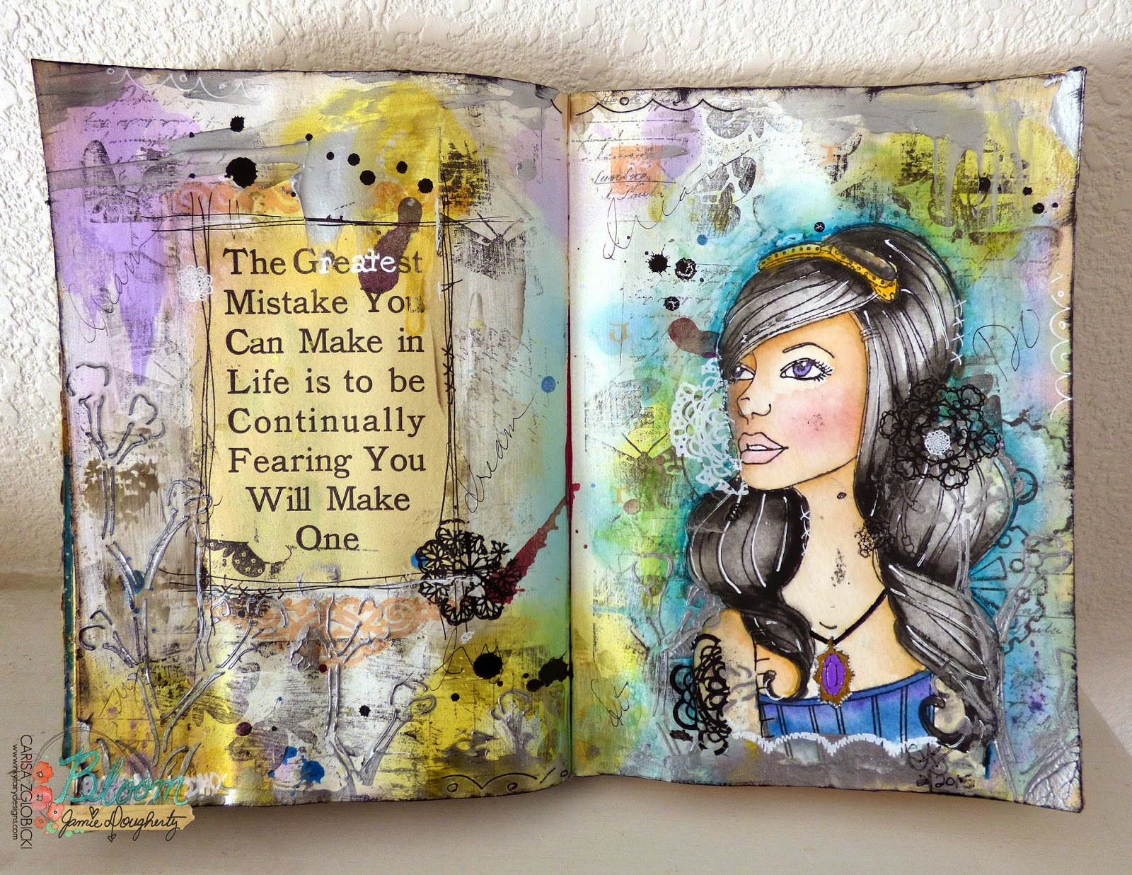 inky fairy designs  watercolor wednesday