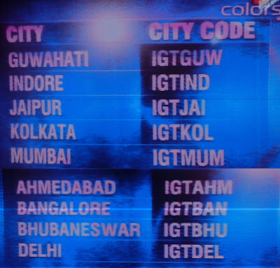 City Code for India Got Talent Season 3