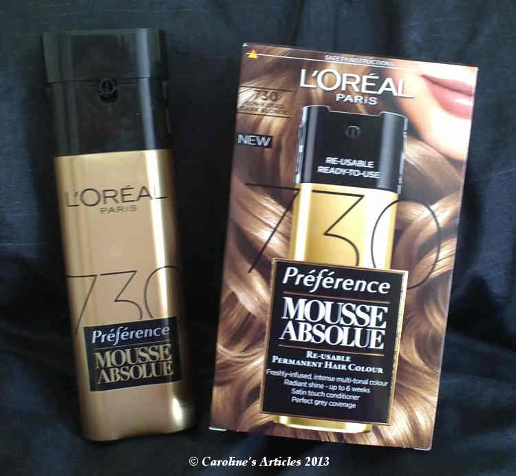 Carolines Articles Loreal Preference Mousse Absolute Review