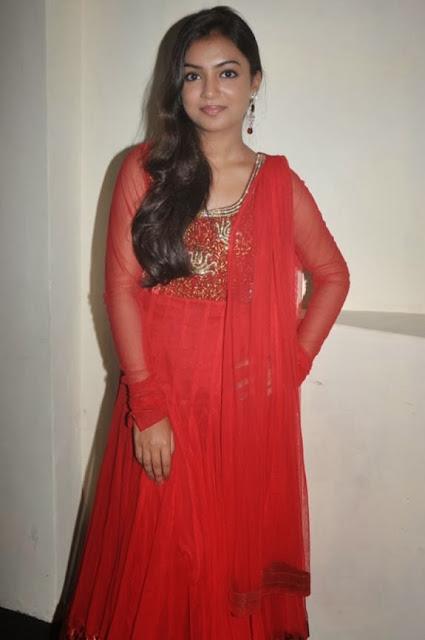 Nazriya Nazim In Red Dress