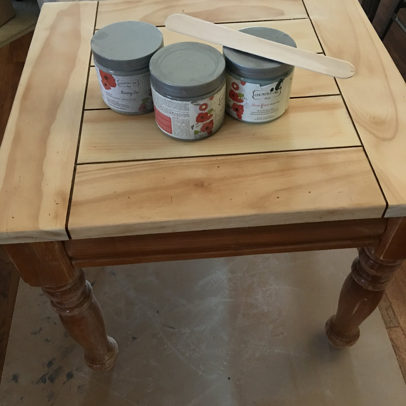 Step 4 Paint The Base Of The Table I Used