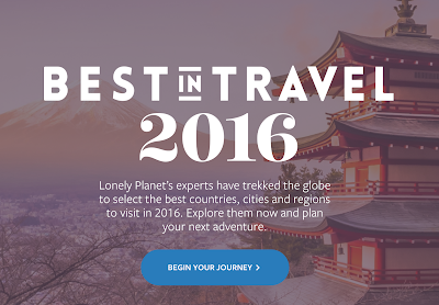 Lonely Planet Best in Travel 2016