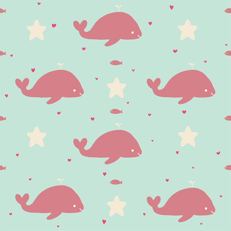whale pattern background tumblr