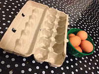 eggs, egg box, egg carton, thinking outside the box, egg carton, spotty tablecloth