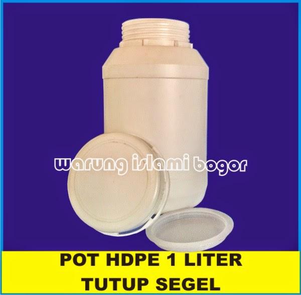 Jual Botol Toples Pot Lem HDPE 1kg Tutup Segel