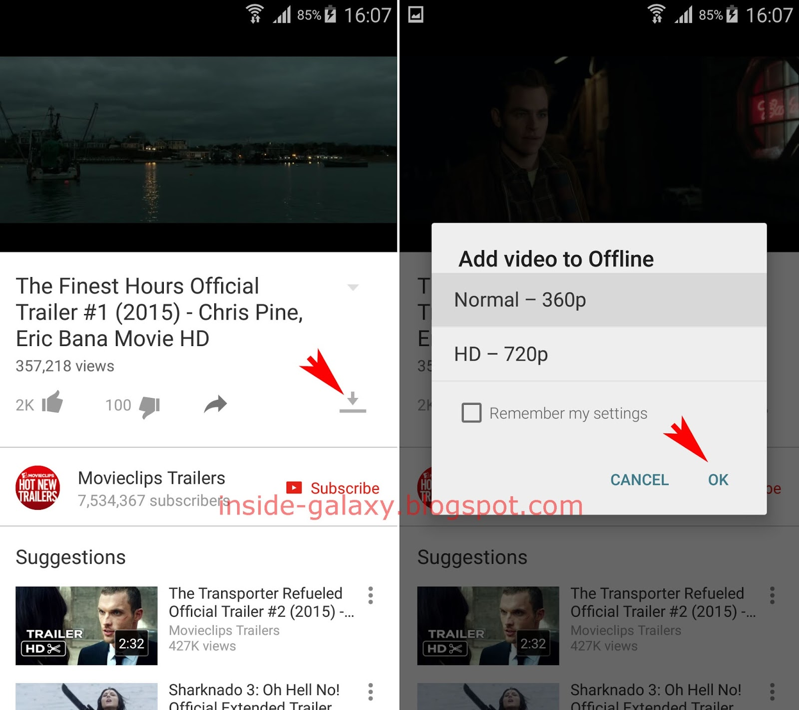 how to add youtube video to watch offline
