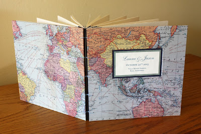 world map handmade book