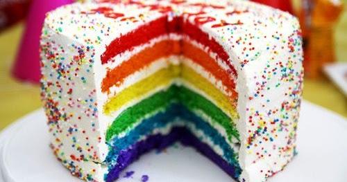 Selamat Datang Di WebUnik: Rainbow Cake, Cake yang Unik ...