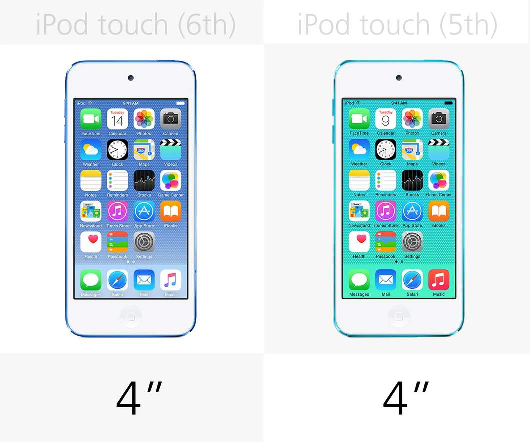 ipod touch 6th generation same size as iphone