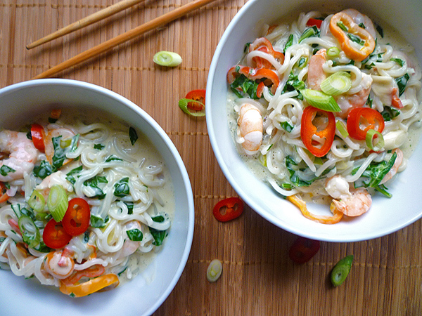 Coconut Lime Prawns with Noodles Recipe