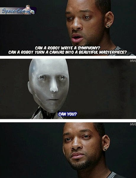 funny I Robot movie humor