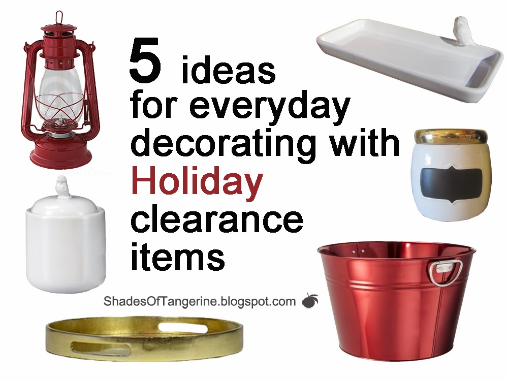 Shades of tangerine five ideas for everyday decorating for Christmas sale items