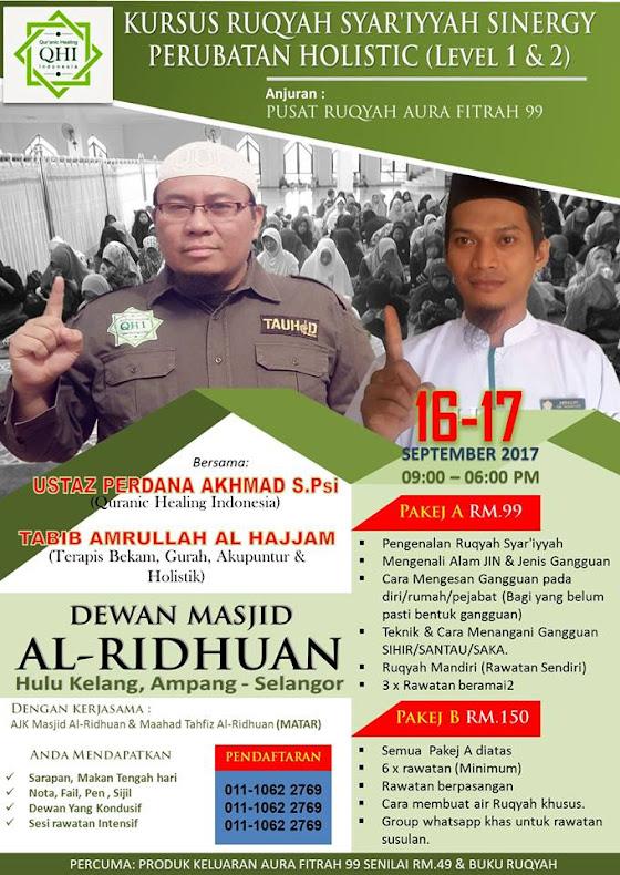 KURSUS RUQYAH DI SELANGOR MALAYSIA
