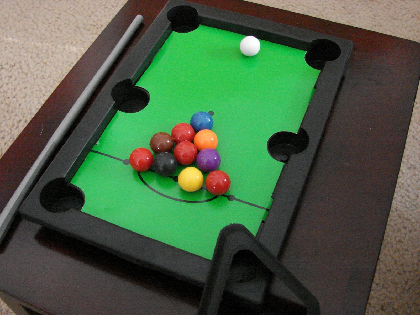 We Love The Little Triangle Thing To Rack Up The Balls...and The Two Pool  Sticks, Super Cute And They Are The Perfect Size For The Dolls!