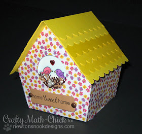 Tweet Talk Bird house by Crafty Math-Chick for Newton's Nook Designs