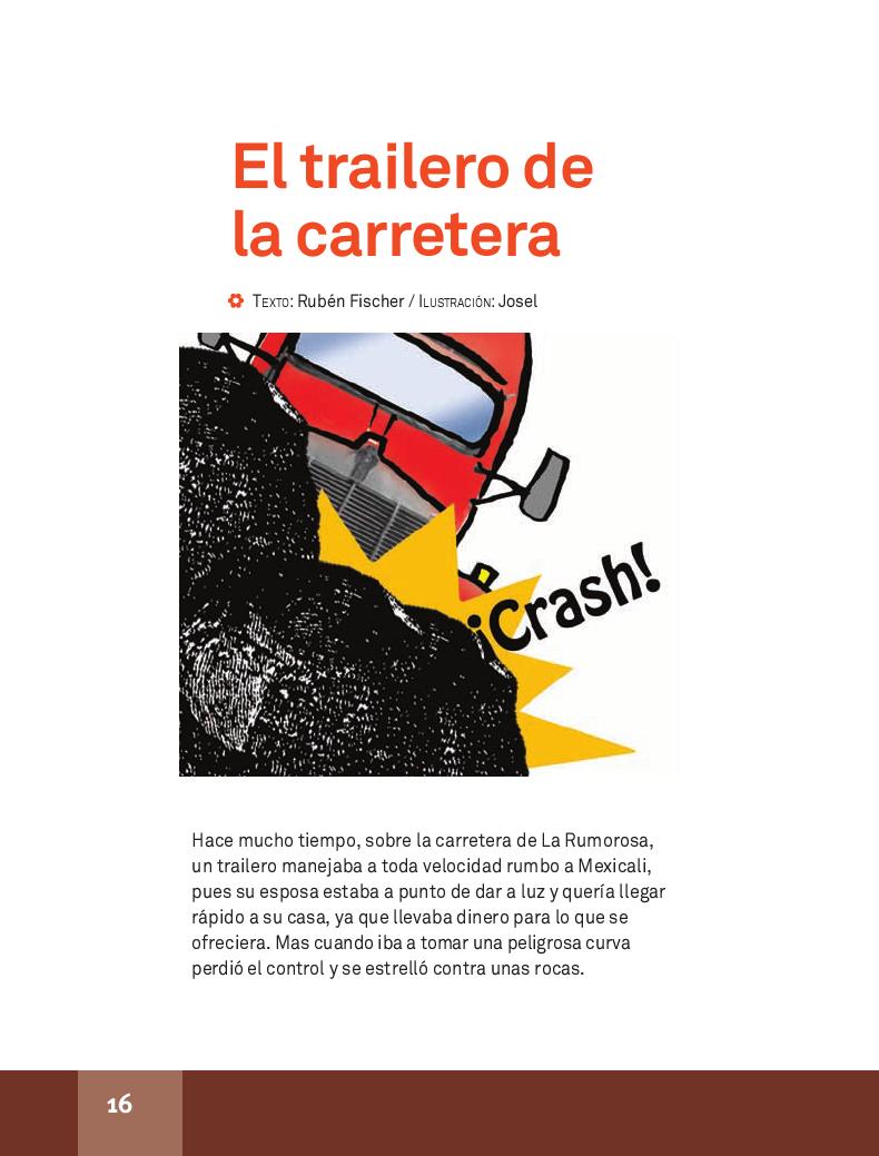 El trailero de la carretera - Español Lecturas 4to 2014-2015