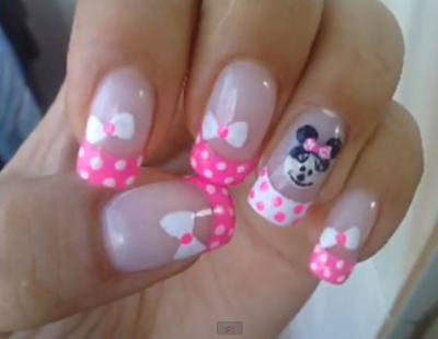 Como fazer unhas decoradas da Minnie Mouse - Vídeo tutorial