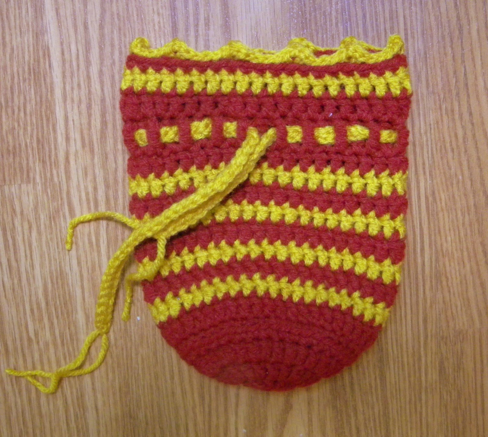 A Hermits Wish: Crochet Drawstring Pouch Pattern