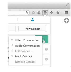Crea y administra tu lista de contactos en Firefox Hello