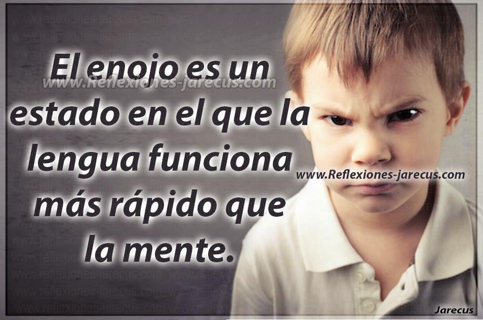 El enojo es un estado en el que la lengua funciona más rápido que la mente.