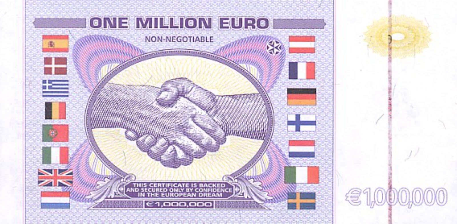 NESARA- REPUBLIC NOW - GALACTIC NEWS: One million Euro note