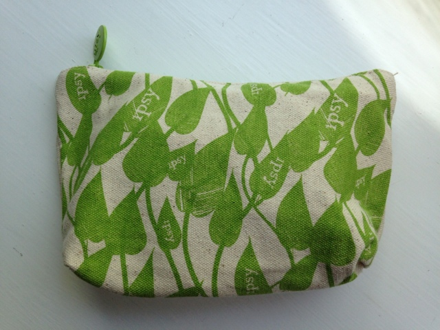 Ipsy May bag with green leafs