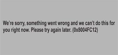 """Solusi Error kode 0x8004FC12 """"We're sorry, something went wrong"""" ketika aktivasi Office"""