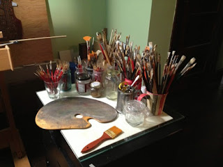 artists tools and brushes