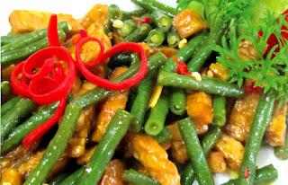 menu sahur tumis buncis jagung muda
