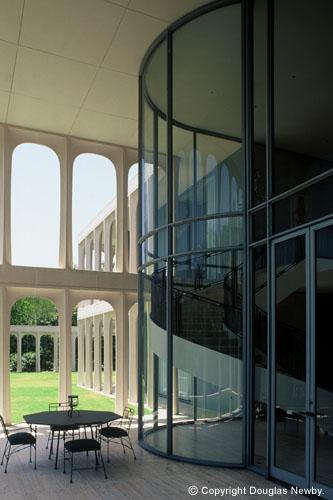 Galería de residencia diseñada por Philip Johnson en Texas