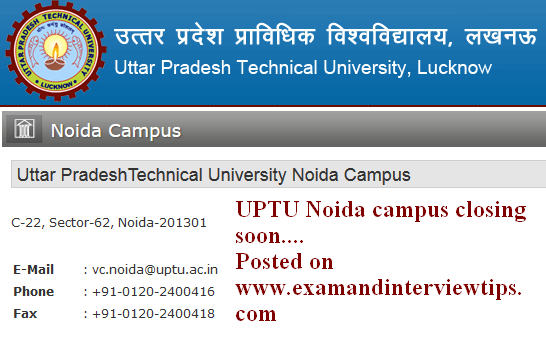 Uttar PradeshTechnical University Noida Campus