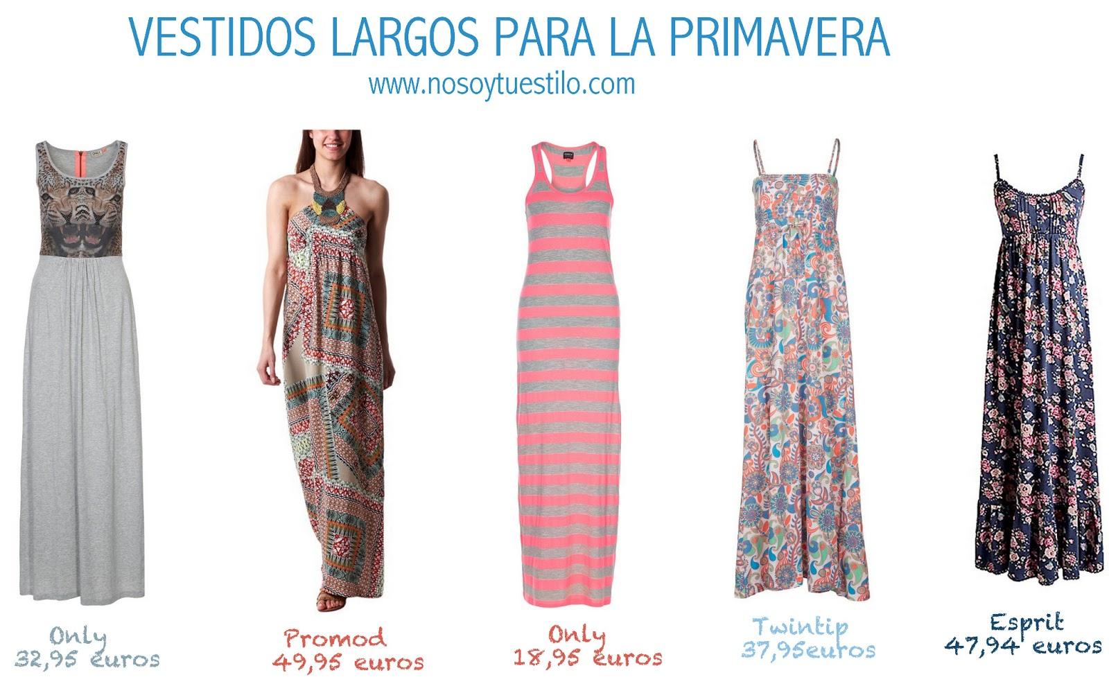 Vestidos largos para la primavera